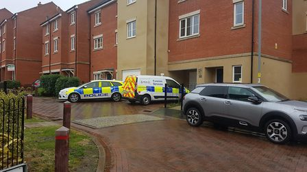 Police were called to the address in Ipswich on Saturday Picture: WILL JEFFORD
