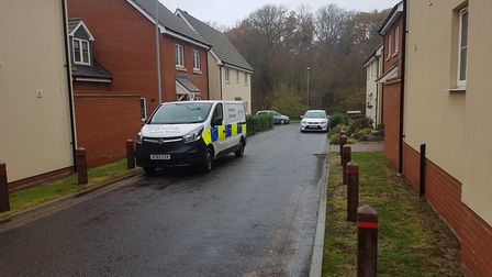 A man has been arrested on suspicion of murder after the death in Meridian Rise, Ipswich. Picture: W