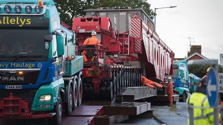 The transporting of two wide loads to Bramford also caused closures on the Wherstead Road Picture: A
