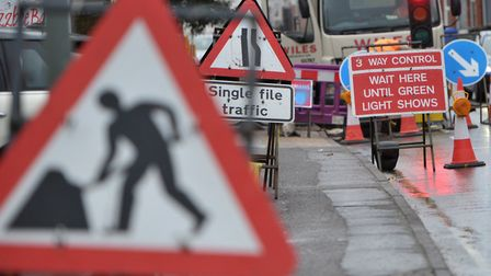 An emergency road closure will take place in Wherstead Picture: SARAH LUCY BROWN