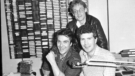 Members of Dr Hook 1982 visiting Radio Orwell in 1982 Picture: ARCHANT