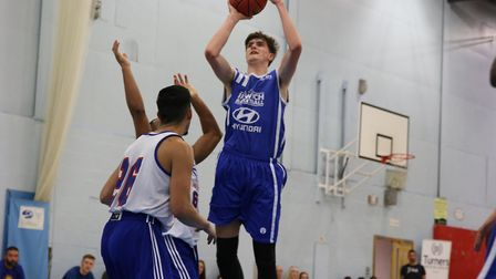 Ethan Price grabbed a double double for Ipswich in defeat at Westminster. Picture: NICK WINTER