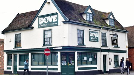 The fight happened outside the Dove Street Inn Picture: SARAH LUCY BROWN