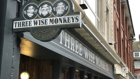 Three Wise Monkeys tap house in Ipswich opens today, after the success of the Colchester venue. Pic