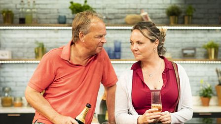 Charlie Brooks and Janie Dee in Monogamy at the Park Theatre