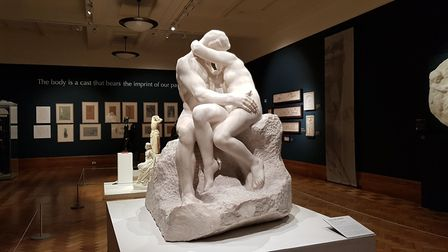 The marble sculpture is entitled The Kiss. Picture: RACHEL EDGE