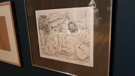 There is even a Picasso drawing as part of the Ipswich collection. Picture: RACHEL EDGE