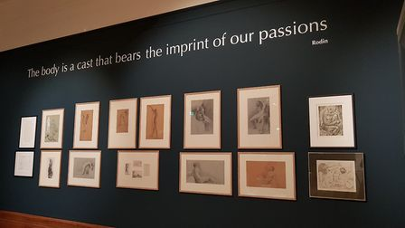 The exhibit inlcudes drawings by Constable. Picture: RACHEL EDGE