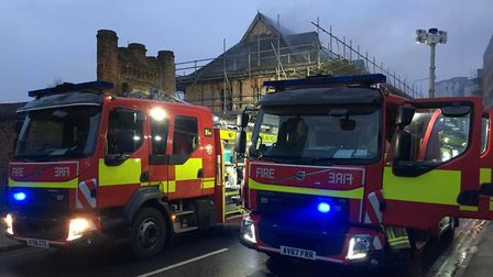 Fire fighters are at the scene Picture: NEIL PERRY