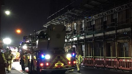 An aerial ladder has arrived