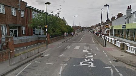 The collision happened on Derby Road in Ipswich Picture: GOOGLE MAPS
