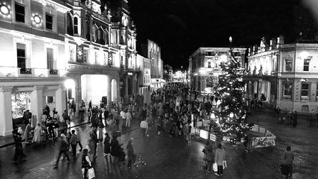 Busy night on the Cornhill as the Christmas lights were switched on Picture: RICHARD SNASDELL