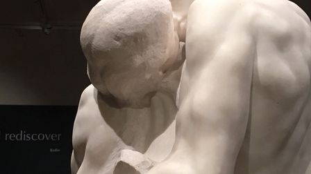 The Kiss is at the Wolsey Gallery, Christchurch Mansion until April. Picture: LJM