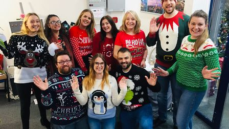 Fred. Olsen staff celebrate their annual'Christmas Craft Fayre and Cake Bak' in their festive jumper
