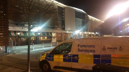 A forensics van could be seen outside Nando's Picture: WILL JEFFORD