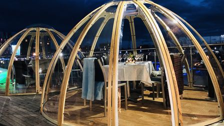 Isaacs on Ipswich Waterfront has installed four 'igloos' for private party hire Picture: Isaacs