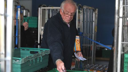 Volunteers followed a shopping list as they packed the boxes Picture: SARAH LUCY BROWN