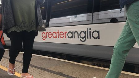 Greater Anglia Train at Ipswich Station Picture: NEIL PERRY