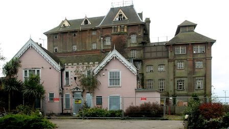 The deserted brewery at Cliff Quay, Ipswich. It was completed by Cobbolds in 1896 and extended in 19