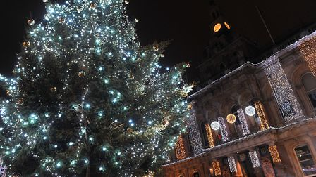 The new-look Cornhill was decked out with thousands of Christmas lights as the festive season offici