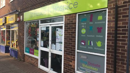 The St Elizabeth Hospice charity shop in Meredith Road Picture: ARCHANT