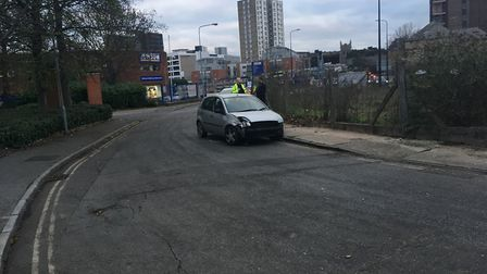 Police were able to get both cars off the road Picture: ARCHANT