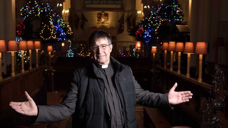 Reverend Canon Charles Jenkin amongst the treees Picture: SARAH LUCY BROWN