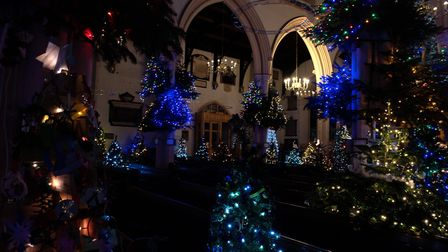 Nearly all of the Christmas trees have been decorated ready for the festival Picture: SARAH LUCY BR