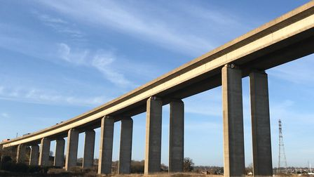 The Orwell Bridge closed for more than five hours on Thursday November 29 Picture: ARCHANT