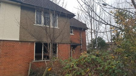 Emergency crews were called to a blaze in Allenby Road on Ipswich on Wednesday night Picture: ADAM