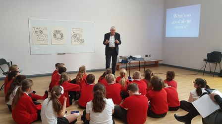 He also visited Witnesham Primary School earlier in the day. Picture: RACHEL EDGE