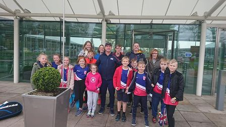Youngsters from Bramford Tennis Club got a behind the scenes tour of the LTA National Tennis Centre