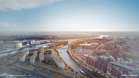 Overall look of the bridges for the Upper Orwell Crossings Picture: FOSTER & PARTNERS