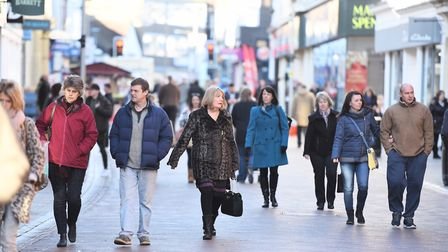 Black Friday sales saw shoppers flood into town centres across Suffolk and Essex - eager to snap up