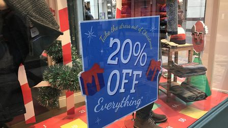 A number of stores are offering deals of up to 50% off. Picture: SOPHIE BARNETT