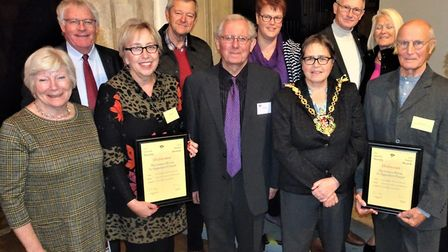 Members of St Augustine's joined Ipswich Society officials at the Awards ceremony this week. Picture