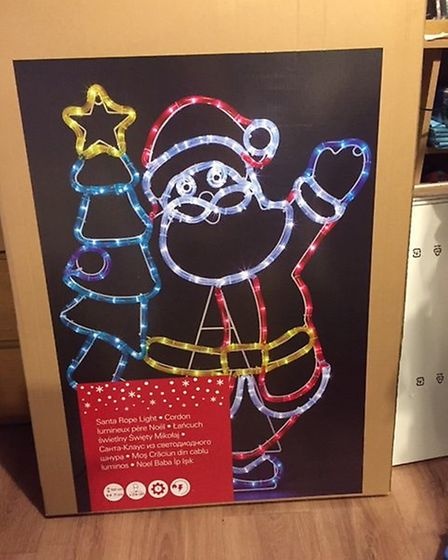 The santa light was stolen some time after 12am on Thursday, December 6. Picture: ADRIENNE THOMPSON