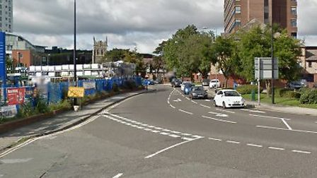 The incident happened in Grey Friars Road Picture: GOOGLE MAPS