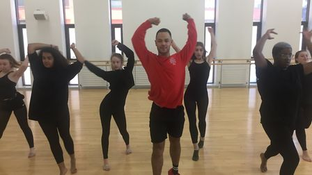 The dance masterclass held by Caine Sobers at Suffolk New College. Picture: DanceEast, Jerwood Dance