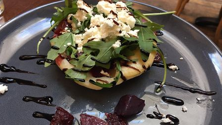 Baby beet, red onion and feta tatin Picture: Archant