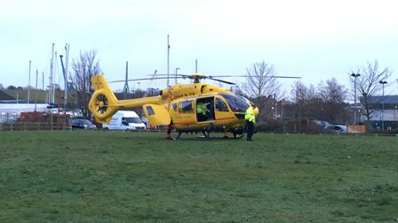 The Air Ambulance responded to the incident but left just after 3.30pm.