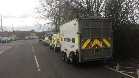 The operation was attended by a large amount of Suffolk officers Picture: ARCHANT