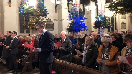 The EADT and Ipswich Star Concert of Carols at St Mary-le-Tower in Ipswich Picture: ARCHANT