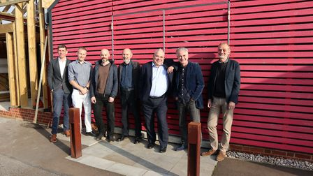 Two architects practices in Ipswich merge: (L-R): Alan Howard, Bryan Wybrow, Andrew Acourt, Neil