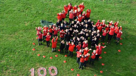 Marking the end of the Grat War, the pupils dressed in red and black to mark the moment fighting on
