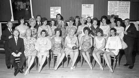 Seventies styles at the Arlington Ballroom in July 1972. Olga Wilmot is in the centre of the front r