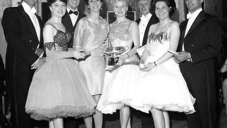 Winners in the Open Fours competition at the Arlington Ballroom, Ipswich, in May 1968. Picture: IAN