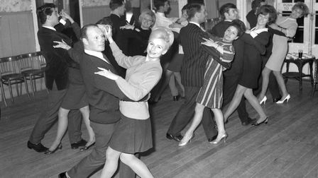 Dancers at the Arlington Ballroom, Ipswich, in January 1968. Picture: IVAN SMITH