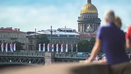 St Petersburg, view of golden dome from river bank Picture: FRED. OLSEN CRUISE LINES