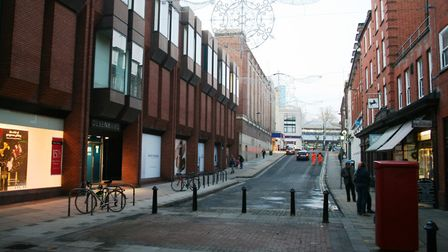 Lloyds Avenue - set to be transformed as part of the Public Realm Strategy. Picture: PAUL GEATER